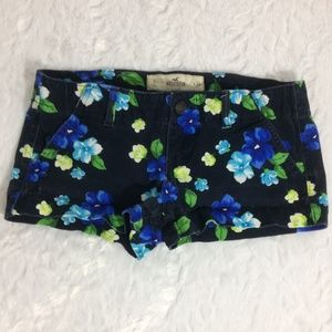 Hollister Blue & Green Floral Shorts | Size 0